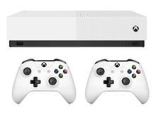 Microsoft Xbox One S ALL DIGITAL 1TB Bundle 2Gamepad white Game Console